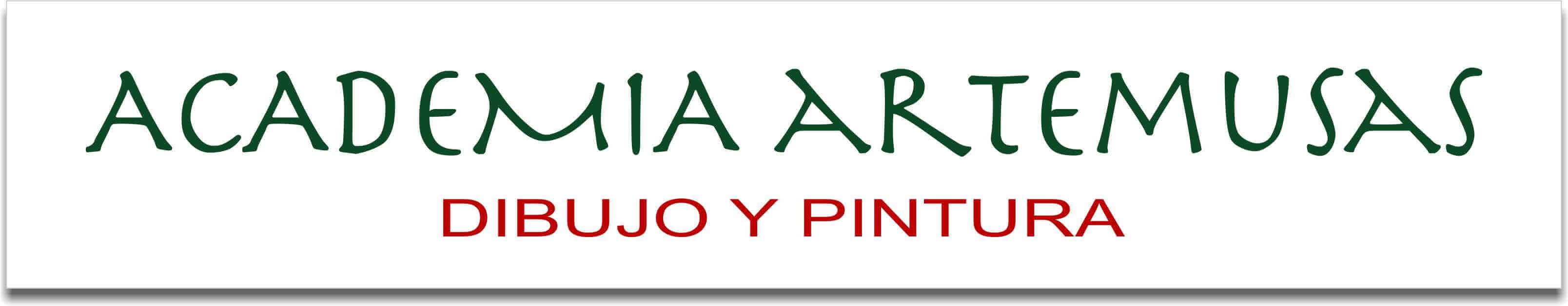 Logo de academia de dibujo y pintura artemusas