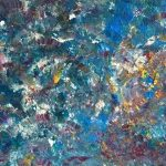 Vidriera pintado por victoria medina profesora de la escuela de dibujo y pintura artemusas